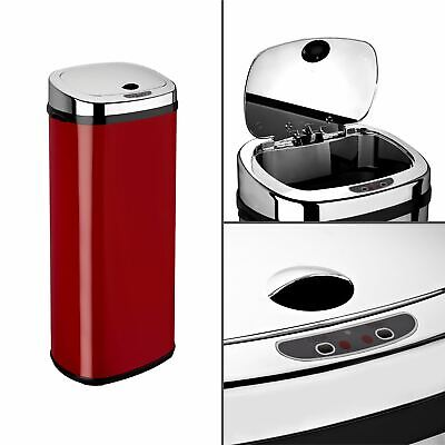 Dihl 30L 42L 50L Rectangle Red Sensor Kitchen Waste Dust Bin Automatic