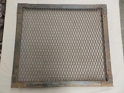 Large Industrial Vintage Wall Cold Air Return Vent Cast Iron Corners Old 4423-15
