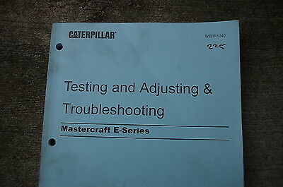 CATERPILLAR Mastercraft E Forklift Test Adjust TROUBLESHOOTING Service Manual