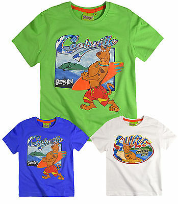 Boys Official Scooby Doo T Shirt Kids Short Sleeve Top New Tee Age 3 4 6 8 Years