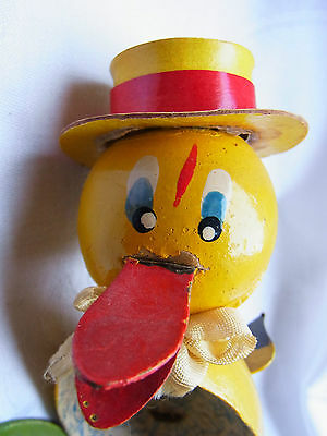 Oster Dresdner Pappe Candy container Easter Füllei  Ente Duck Ostern 1960 alt