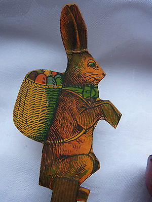 Osterhase Dresdner Pappe Candy container Easter Rabbit Bunny Ostern 1900 alt