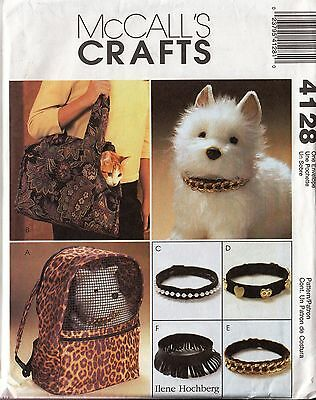 Cat, Small Dog, Pet Carriers and Collars Pattern McCall's 4128