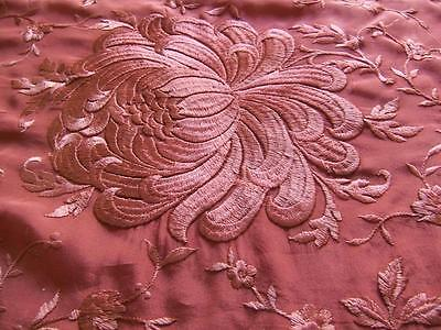 Gorgeous Antique Victorian Embroidered Silk Piano Scarf Shawl with Vestment Trim
