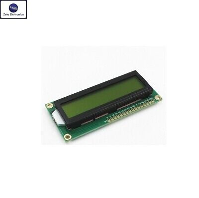 DISPLAY LCD 16x2 1602 VERDE HD44780 MODULO PER ARDUINO RETROILLUMINATO A LED