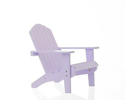 "18"" Doll Lavender Painted Wood Adirondack Chair Fits American Girl Furniture"