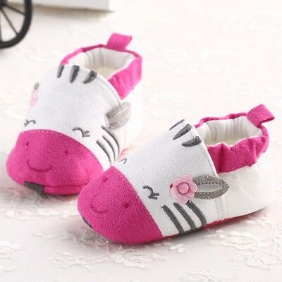 2014 New Pink mouse Newborn Baby boy girls shoes soft sole toddler 6-12months