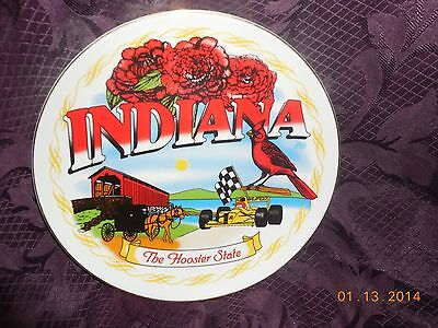 INDIANA THE HOOSIER STATE PLATE 8 1/2""