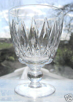 Stuart Crystal Wine Glass LOVAT Large Wine Water Goblet Signed Rare Pattern