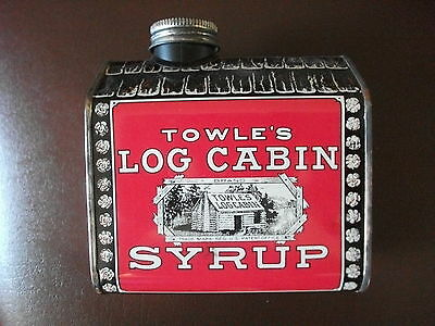 Towle's Log Cabin Syrup Tin Lithographed Metal Still Coin Bank - 1979