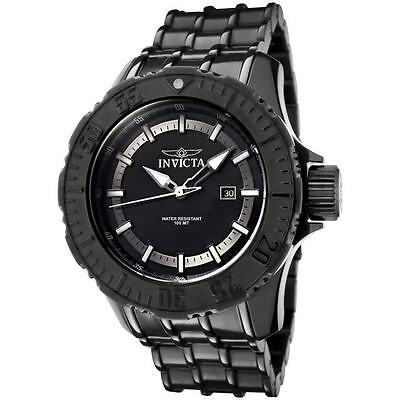 Invicta Men's 0504 Pro Diver Collection Black Ion-Plated Stainless Steel Watch