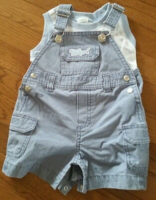 Gymboree 6-9 month boys overall outfit