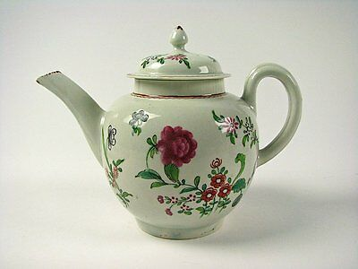 Antique English Porcelain Worcester Liverpool 18th Century Teapot Dr Wall Period