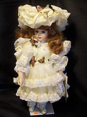 """This 18"""" Seymour Mann Collector Porcelain Doll """"Caroline"""" is Limited to 2500."""