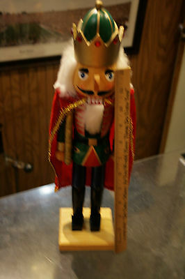"""Large Holiday Nutcracker King 13""""+ great decoration for the holidays! JSH"""