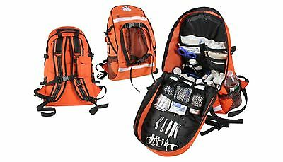 Orange E.M.S. Trauma Backpack - First Response Organized Back Pack Bag