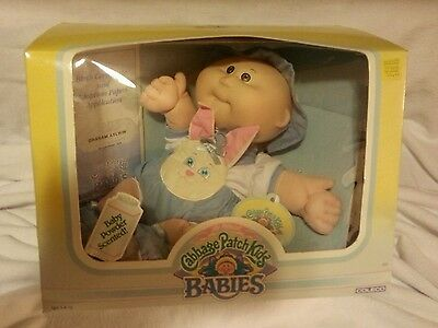 Vintage Cabbage Patch Bean Butt Baby Wearing Rare Bunny Bee Outfit NIB