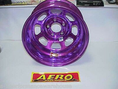 "Aero PURPLE 5 x 4-3/4"" Wheel 15""x 8"" IMCA 1"" Offset 52-984710 Hobby Stock W14"