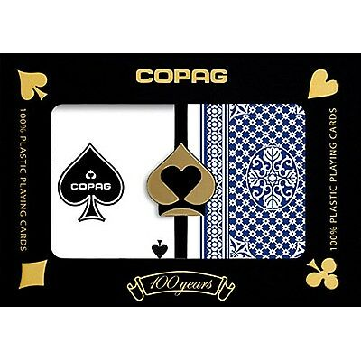 Copag Pinochle Poker Size Regular Index Plastic Playing Cards (Blue Red)