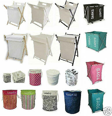 Laundry Hamper Pop Up Strong Basket Bin Toy Clothes Linen Toys Bag Square Round