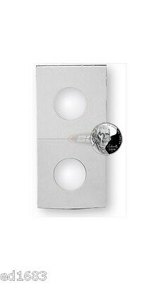 500 BCW Crystal Clear Coin Holders 2x2 Paper Flips - Nickel - Bulk