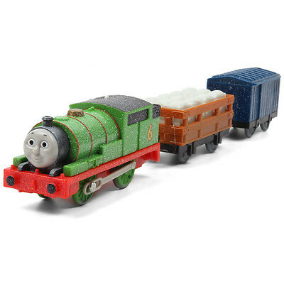 Fisher Trackmaster Thomas Motorized Train Ghosty Percy + 2 Trucks