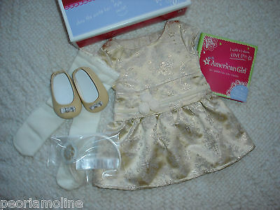 My American Girl  BROCADE HOLIDAY DRESS, Grace, Isabelle, Retired, NEW ! Easter