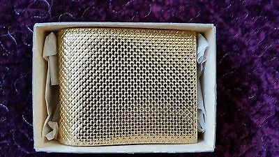 """Vintage """"Style Case by Zell"""" Gold Ladies Wallet Satin Lining Never Used NIB"""
