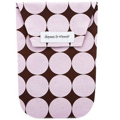 NEW Diapees and Wipees Diaper Bag - Pink Disco Dot