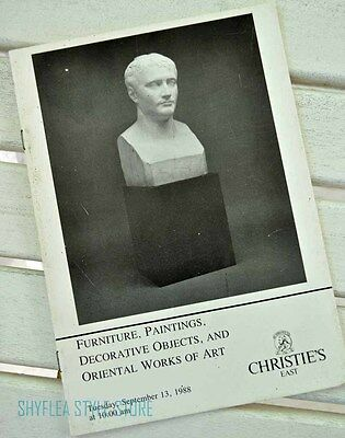 Christie's East Auction Catalog 1988 Furniture Paintings Oriental Works of Art
