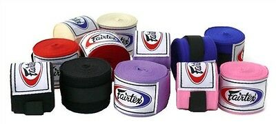 "FAIRTEX FULL LENGTH 180"" ELASTIC COTTON HANDWRAPS MUAY THAI KICK BOXING MMA"
