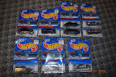 Hot Wheels Lot of 9 Diecast 1999 1st Editions Ford Mercedes