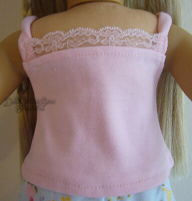 Pink Lace Camisole for American Girl Doll Clothes