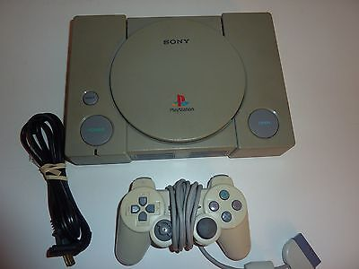 Sony PlayStation 1 Controller Bundle Gray Console NTSC SCPH-7501 TESTED