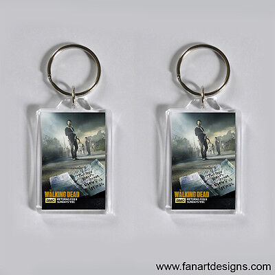 THE WALKING DEAD - NORMAN REEDUS - ANDREW LINCOLN  - PROMO PHOTO KEYCHAIN