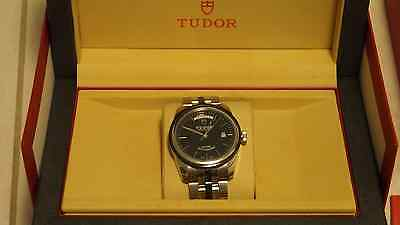 TUDOR GLAMOUR DATE-DAY 56010N-68060N Men's Watch Silver and Black