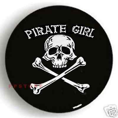 """SPARE TIRE COVER 26.5""""-28.8"""" PIRATE GIRL Skull on rv black COOL zw098733p"""