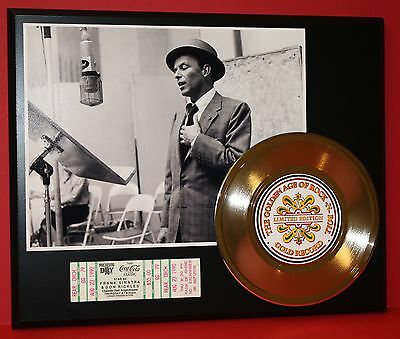 FRANK SINATRA LIMITED EDITION GOLD RECORD CONCERT TICKET DISPLAY