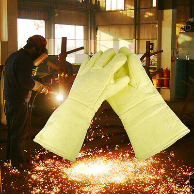 "New High Temperature Heat Resistant Furnace Melting Gloves 14.17"" HI-TEMP D1"
