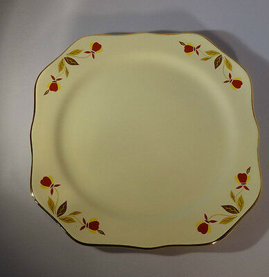 """Hall China Autumn Leaf 1 Square Plate China Specialities 8 1/4"""""""