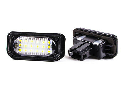 MERCEDES W203 W209 SEDAN A209 REAR NUMBER LICENSE PLATE LIGHT LAMP 2x 18 LED