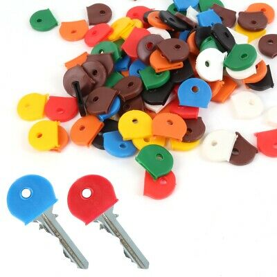 100x LARGE PACK Coloured KEY TOP COVERS Tags ID Markers TOPPERS Identifier Caps