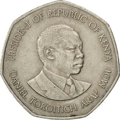 [#35879] KENYA, 5 Shillings, 1985, British Royal Mint, KM #23, AU(50-53)
