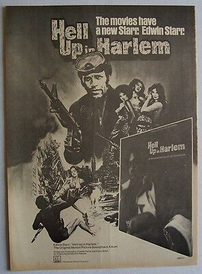 EDWIN STARR 1974 Poster Ad HELL UP IN HARLEM soundtrack
