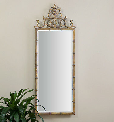 XL Arched Decorative Wall Floor Mirror Large 72 Gold