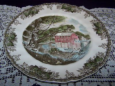 """Johnson Brothers, England: The Friendly Village-- The Old Mill --10.75"""" Plate"""