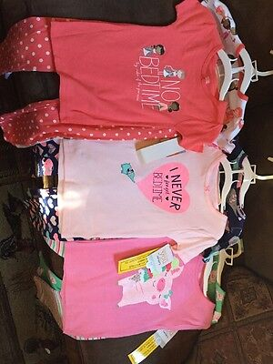 5t Pjs Pajamas New Carters Just One Year Two Piece 6 Pairs Baby Girl
