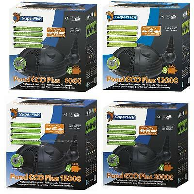 Super fish Pond Eco Plus **WHOLE RANGE ** Pump Filter Filtration Koi Superfish