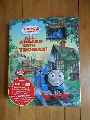 Thomas the Tank Engine All Aboard With Thomas! Book with track & train New