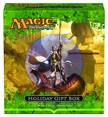 Magic the Gathering 4x Empty THEROS HOLIDAY GIFT BOX Store 8000 cards 2013